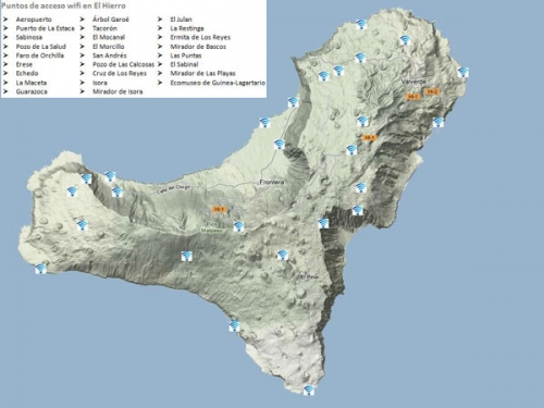 Mapa facilitado por el Cabildo de la Isla del Hierro