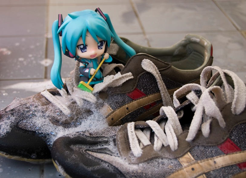 Cleaning shoes - kodomut