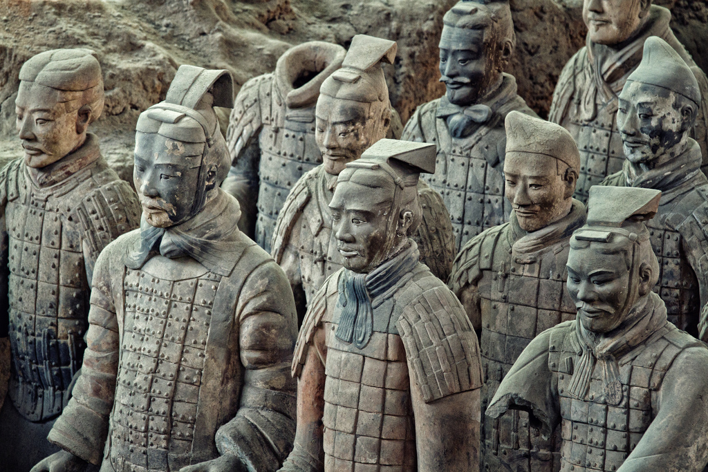 Guerreros de terracota en Xian - China