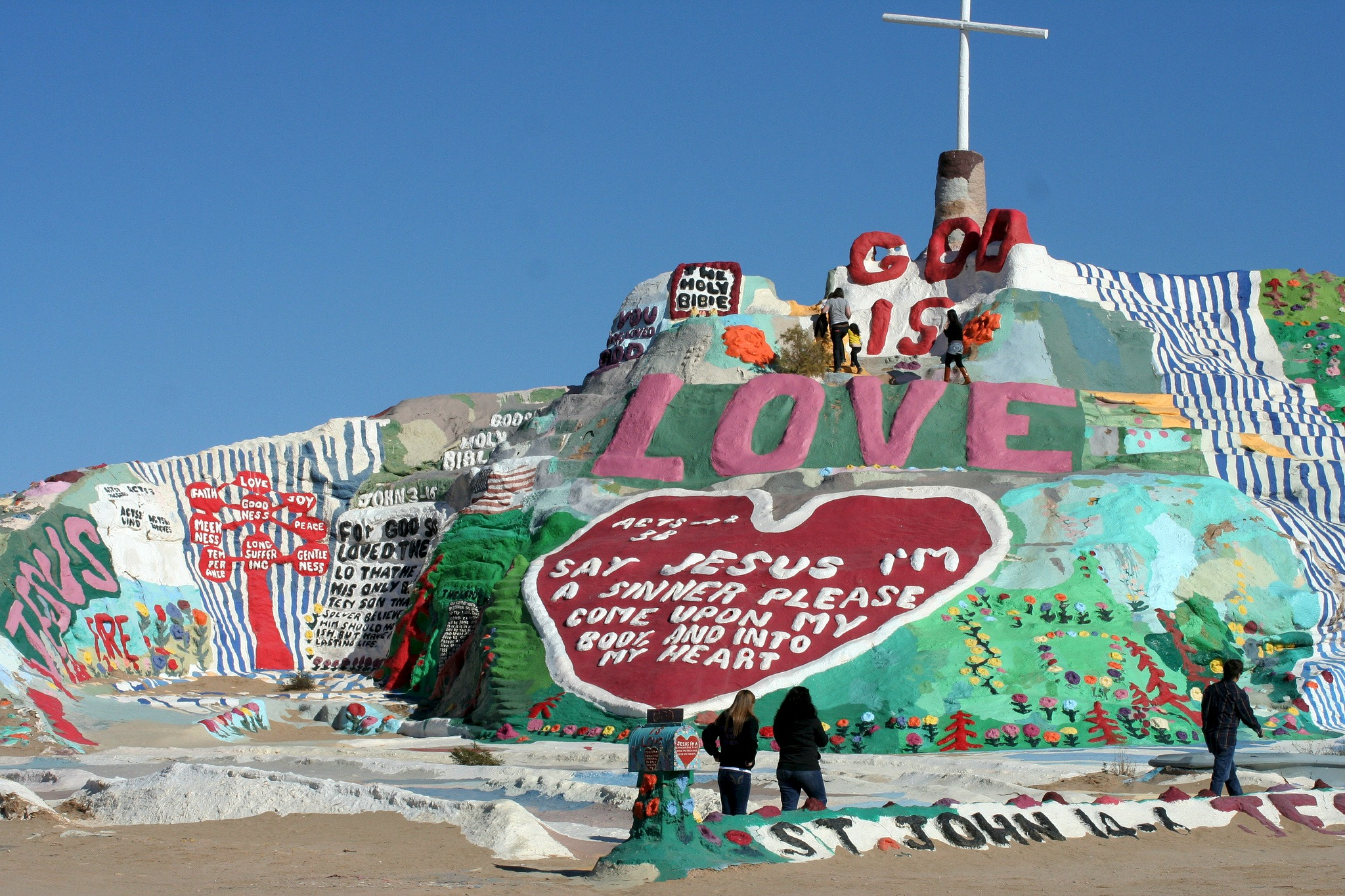 Salvation Mountain en Slab City - estados Unidos